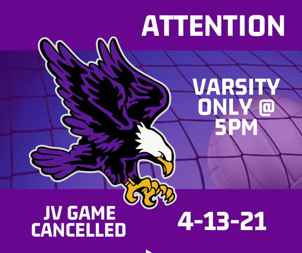 JV Volleyball for Tonight is Cancelled