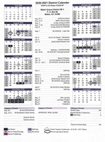 2020-2021 Adopted District Calendar