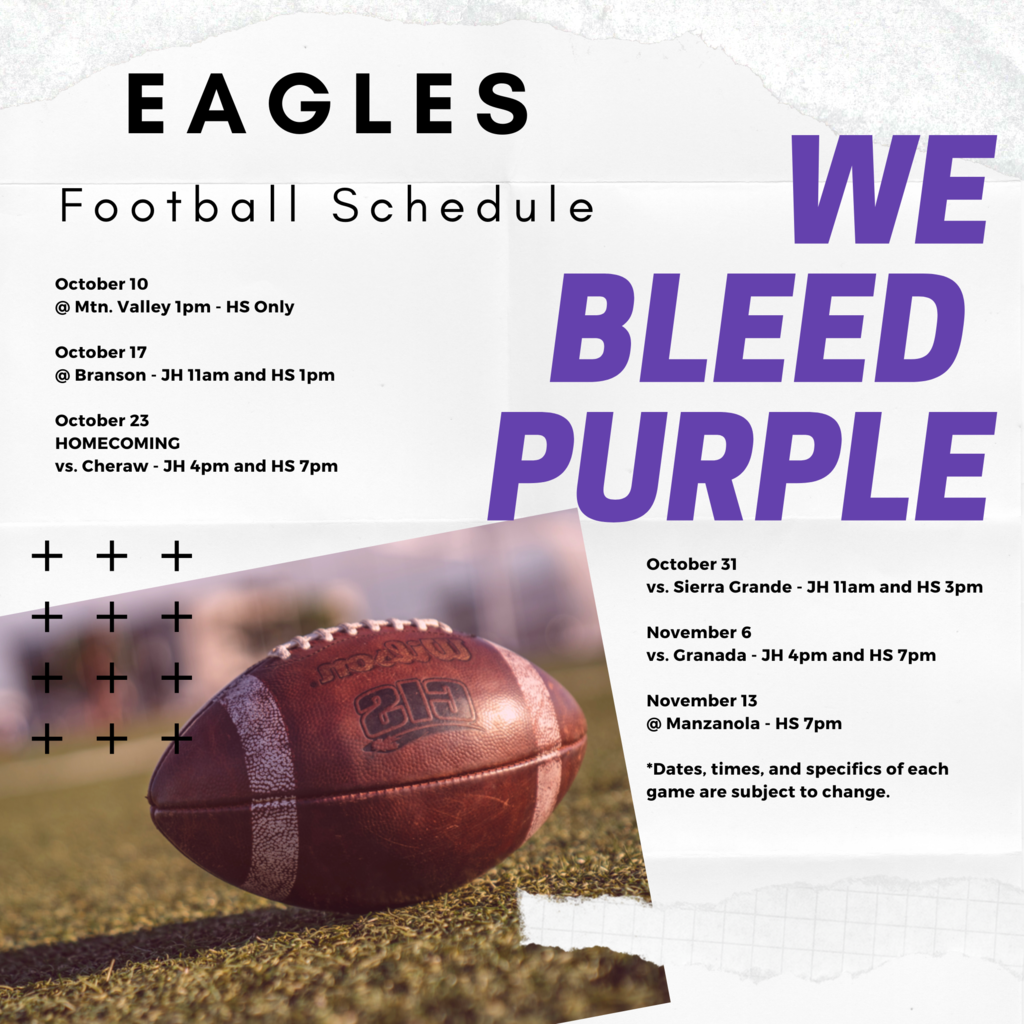 Football Schedule Graphic