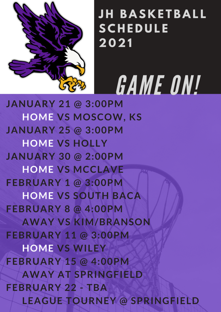 JH and HS B-ball Schedules