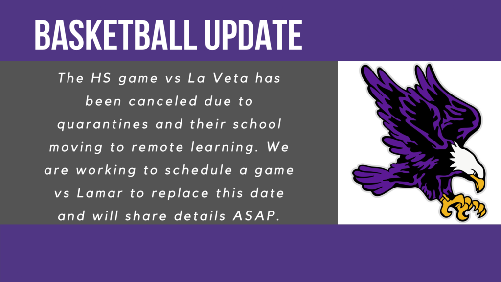 La Veta game canceled