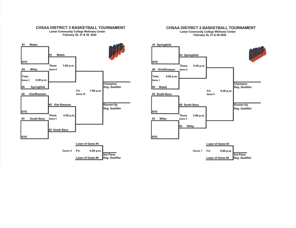District 3 BB Bracket - 2020