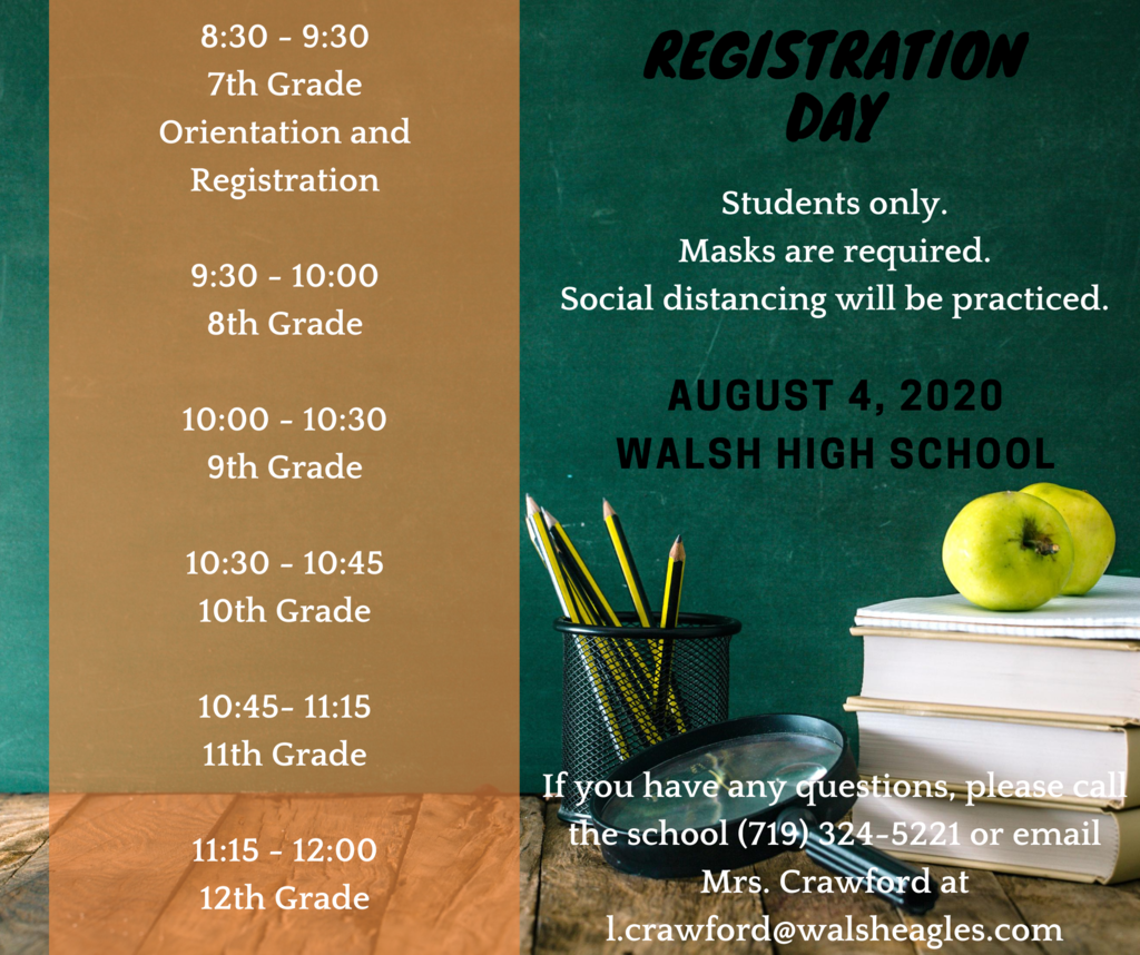 Registration Day - August 4, 2020