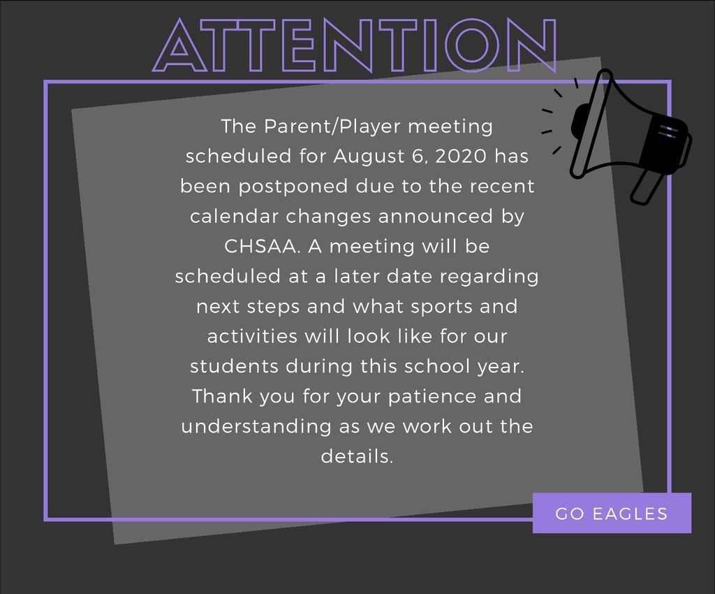 Parent/Player Meeting Postponed